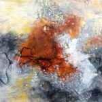 Connections | 24 x 36 | encaustic on panel | Anne Wright | available Ottawa Art Gallery Sales and Rentals