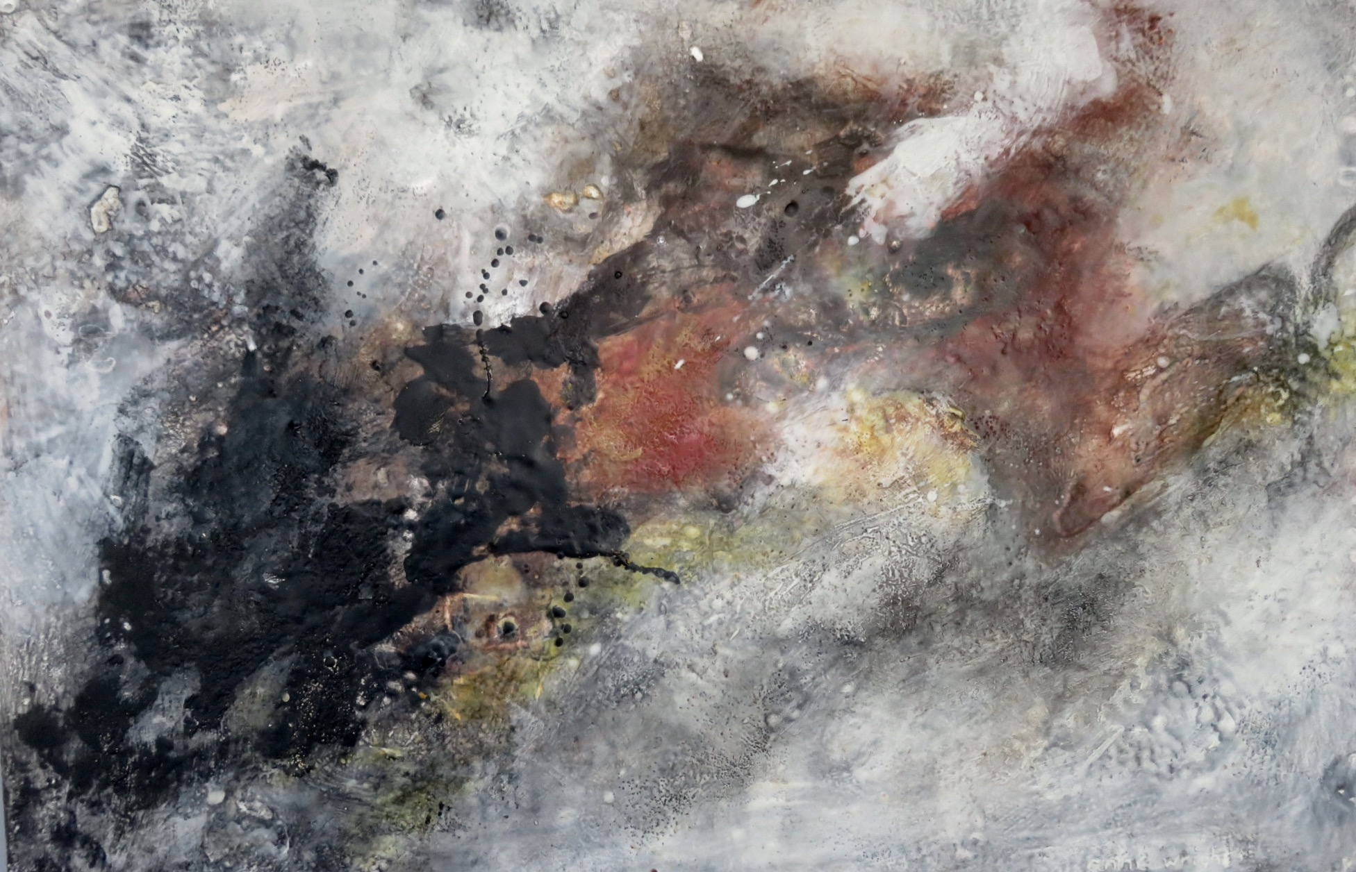 Echoes | 24 x 36 | encaustic on panel | Anne Wright | available from artist