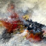 Revelation 24 x 36 encaustic on panel, Anne Wright