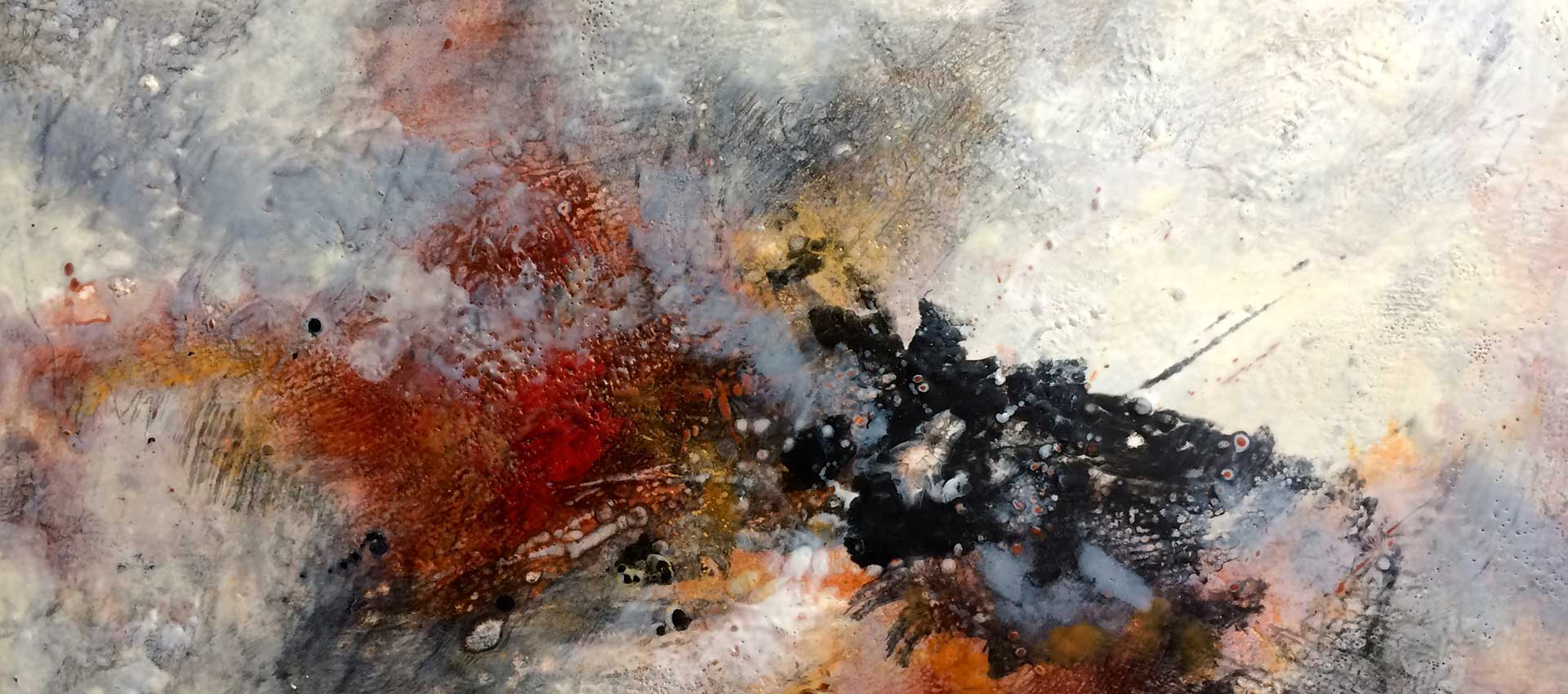 Revelation | 24 x 36 |encaustic on wood panel | Anne Wright | available for rent or sale Ottawa Art Gallery Sales and Rentals